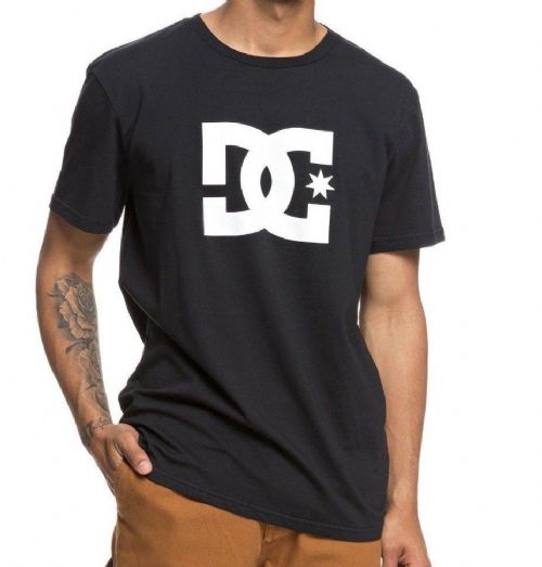 DC SHOES MENS T SHIRT.NEW STAR BLACK COTTON SHORT SLEEVE CREW TOP TEE 8W 22 KVJO